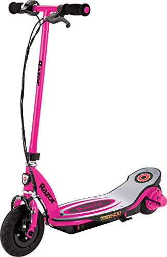 Razor Maquinilla de Afeitar de los niños Power Core E100 Scooter eléctrico, Infantil, Power Core E100, Rosa, Medium