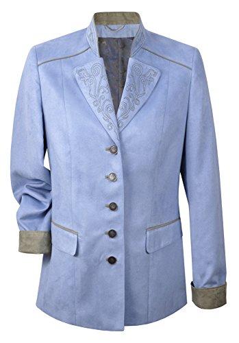 Moschen-Bayern Damen Trachtenjacke Trachtenblazer Gehrock Blau 40