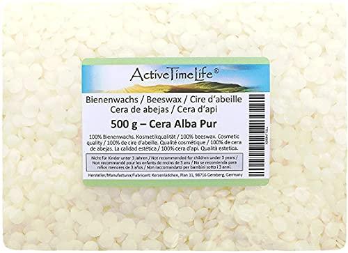 Bienenwachs Pastillen Bio, weiß, 500 g, für Kosmetik Kerzen Cremes Salben Seifen
