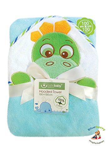 BlueberryShop Geborduurd bad/bad/strandhanddoek voor baby/peuter, groot, blauw
