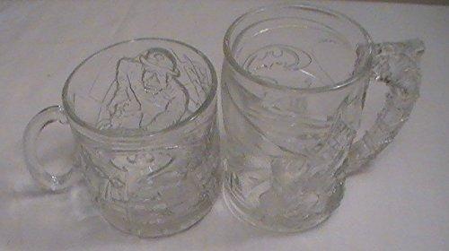 McDonald's Batman Forever (1995) Collectible Mugs - Set of 2-Batman & Riddler (Joker)
