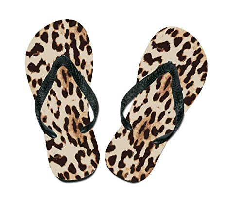 S.B.J - Sportland Flip Flops Leopard   Leopardenmuster - Schuhe/Slipper Badeschuhe Flip-Flop Badelatschen Badeschlappen Sandale Zehentrenner, Gr. 42-44