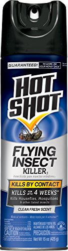 Hot Shot 66310-1 AC1686 Flying Insect Killer Aerosol, 15-Ounce, Pack of 6,Multicolor