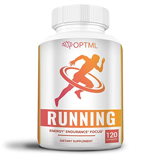 OPTML Running Performance Supplement, Boosts Energy, Increased Endurance, Enhanced Focus, Reduced Stress, Run Longer and Faster (120 Capsules)