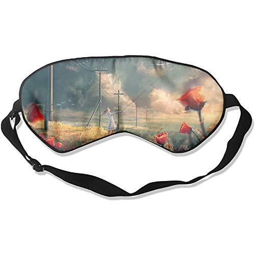 Slaap oogmasker Abstract Draak Meisjes Zachte oogband Verstelbare hoofdband Eyeshade Travel Eyepatch