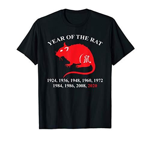 Jahr der Ratte Jahre Liste chinesischer Mondzodiak Feiertag T-Shirt