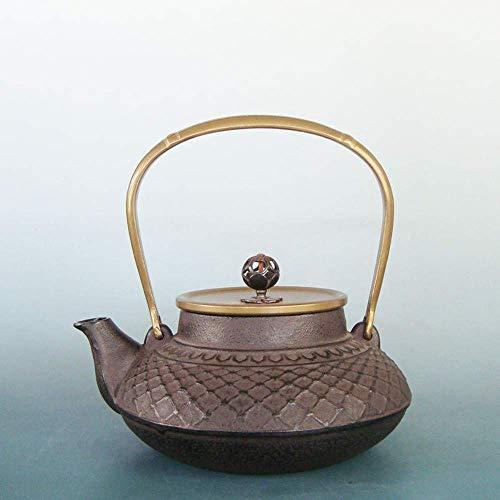 Tetera,Tetera de hierro fundido,Juego de tetera de hierro fundido,Hierro fundido puro hecho a mano Pot ese Old Iron Pot Health Tea Set 1 2L Decoración del hogar Presente