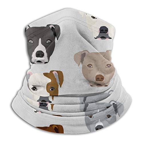 Nother Pitbull Heads Pitbull Dog – Bufanda de cuello para cabeza gris claro, calentador de cuello, pasamontañas para deportes al aire libre