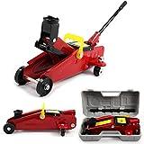 Hydraulic Jack 2 Tonne Floor Trolley Jack Car Van Garage Emergency Car Tyre Repair Changing Tool Universal 2 Tonne Low Profile Trolley Jack Steel Floor Jack (Red)