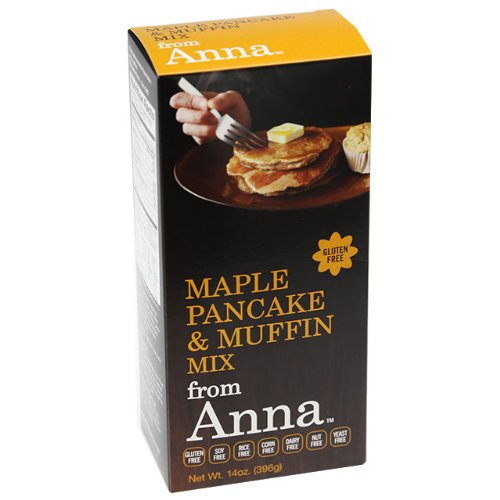 Maple Pancake and Muffin Mix, from Anna, Gluten yeast soy rice corn dairy and nut free, 14 oz