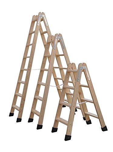 Rugoplast 4 Peldaños Escaleras de Madera
