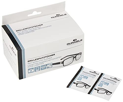 Durable Lingettes pour Lunettes Lingettes nettoyantes pour lunettes Blanc Lot de 100