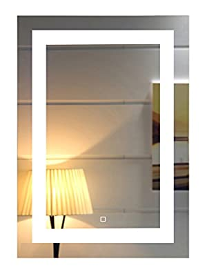 LED Lighted Bathroom Mirror with Touch Switch