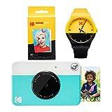Kodak PRINTOMATIC Paquete de reloj de cámara de impresión instantánea (azul)