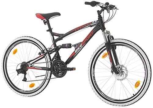 BIKE SPORT LIVE ACTIVE Bikesport Parallax Bicicletta Doppia Sospensione 26', Altezza Telaio: 43 cm, Freni a Disco Shimano 21 cambios (Nero Blu)