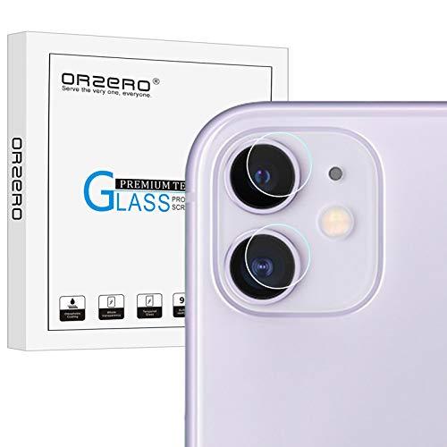 NEWZEROL 4 Pezzi Compatibile per iPhone 11 6.1 Fotocamera Pellicola Telecamera 2.5D Arc Edge 9 Durezza ad Alta Definizione Vetro Temperato -Trasparente