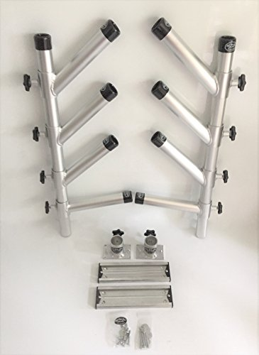 High Seas Gear Quad Adjustable Rod Holder with Dipsy Arms Kit #1