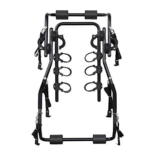 Portabicicletas de Montaje en Enganche Trasero Adecuado para el Maletero de SUV Hatchback,Puede Colgar 3 Bicicletas,No Requiere Ensamblaje/Negro/A