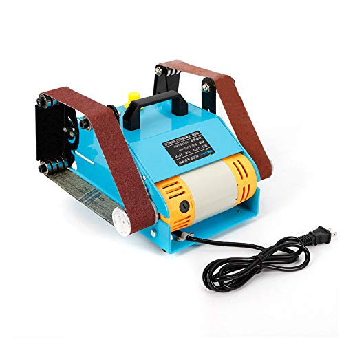 YIYIBY Mini Polierschleifen Doppelachsen-Schleifbandmaschine, Schleifbandmaschine Schleifbock 950W Doppelschleifmaschine 40 * 680 mm