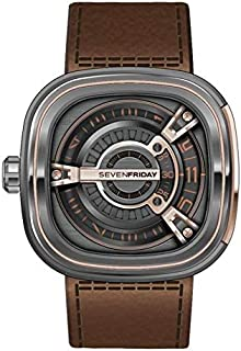 SevenFriday Men's Dark Gray Dial Leather Band Automatic Watch - M2/02