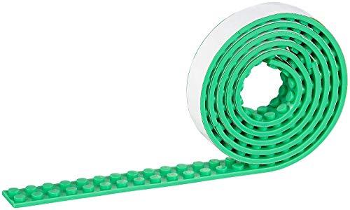 infactory Toy: Selbstklebendes Spielbaustein-Tape für gängige Systeme, 1 m, grün (Spielzeug)