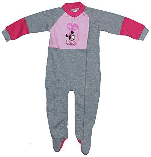 Filles Disney Bébé Minnie Mouse Boîte Cadeau Grenouillère Fermeture Éclair Barboteuse Tailles à partir de 9 to 24 Mois - Gris, 18 Months