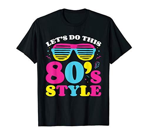 80er Jahre Kostüm T-Shirt 80er Jahre