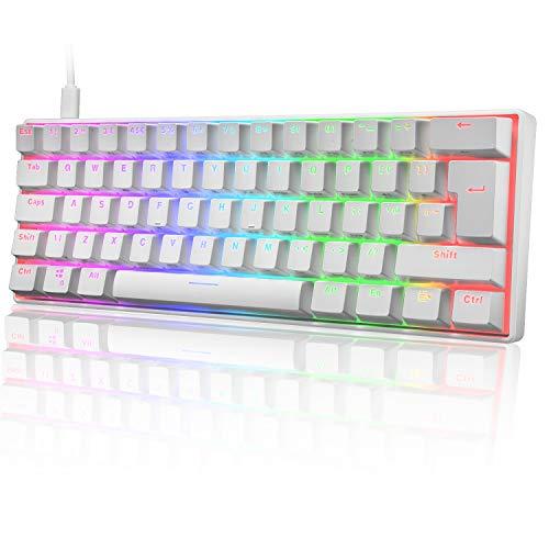 UK Layout 60{0cb8edf7353d2a3da6cb74a85b872cc8c5d42658a0b73a2b7e86e79c5cc27c35} Mechanische Gaming-Tastatur Typ C verkabelt 61 Tasten LED-beleuchtete USB-wasserdichte Tastatur 14 Chroma RGB-Hintergrundbeleuchtung Anti-Ghosting-Tasten für Computer/PC/Lapto/MAC