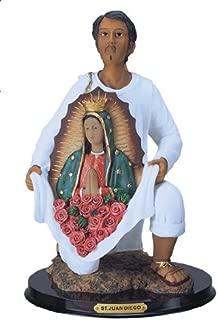12 Inch Statue Our Lady Of Guadalupe W/ San St Juan Diego Saint Estatua Virgen