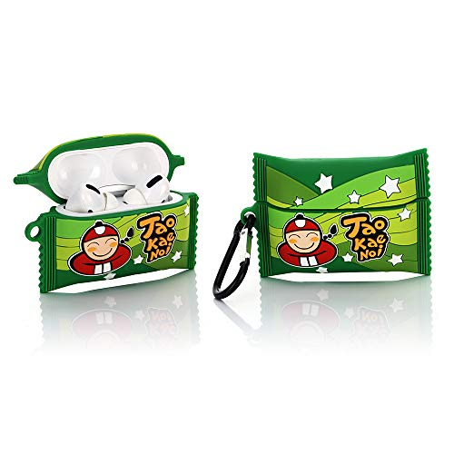 YIGEYI Silicone Case Compatible with Airpods Pro Funny Cute 3D Cartoon Cover [Snack Series 1] (TAO KAE NOI)