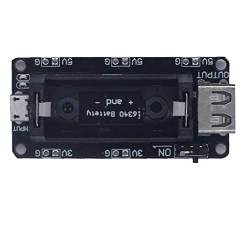 NIDONE Lithium-Batterie-Ladegerät Shield Modulausgangsleistung aufladbaren 16340 Platine kompatibel mit CESP8266 ESP32