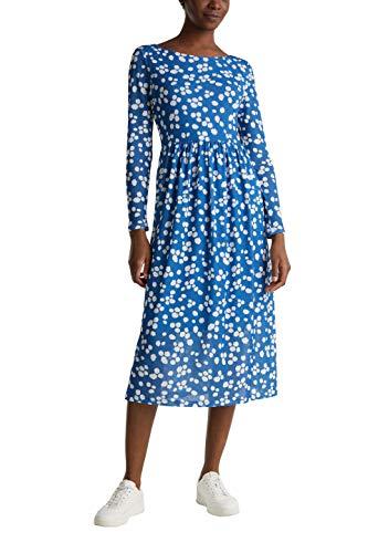 ESPRIT Damen 040EE1E369 Kleid, 410/BRIGHT Blue, XXL