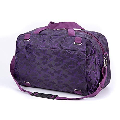 Fslt Oxford cloth suitcase handbag leisure weekend travel shoulder bag clothing storage large fitness messenger bag-purple