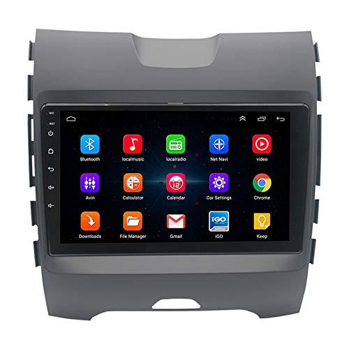 Android Autoradio Radio Double DIN Sat Nav para Ford Focus 2006-2014 Navegación GPS 2.5D Pantalla Táctil Reproductor Multimedia FM Am DVD Video Receiver(Color:4G+WiFi 2G+32G)