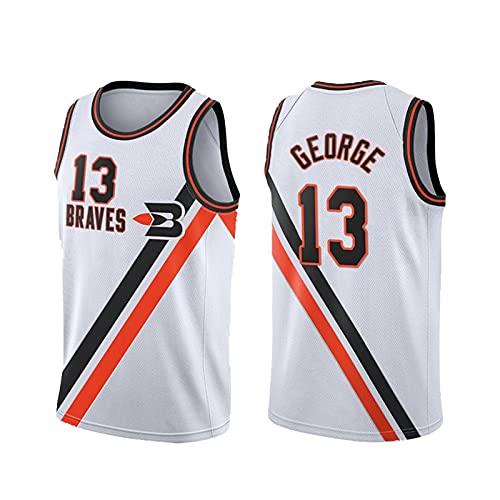 IJOKL George # 13 Basketball-Jersey-Uniform, Polyesterfasermaterial, Stickmuster, Unisex ärmelloses T-Shirt 1-M