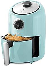 Dash Compact Air Fryer Oven Cooker with Temperature Control, Non-stick Fry Basket, Recipe Guide + Auto Shut off Feature, 2 Quart - Aqua