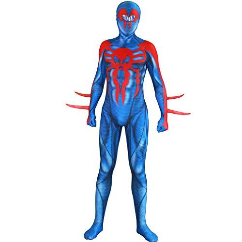 Devon's Home Spiderman 2099 Costume, Halloween Spiderman Jumpsuit (XL) Black