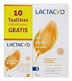 Gel de higiene íntima diario Lactacyd Íntimo 400 ml, pH equilibrado, sin jabón + Toallitas...