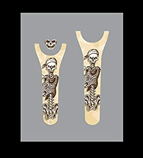 Vinyl Skin Decal Wrap Sticker Cover for the MagicBand 2 Magic Band 2 Pirate Skeleton