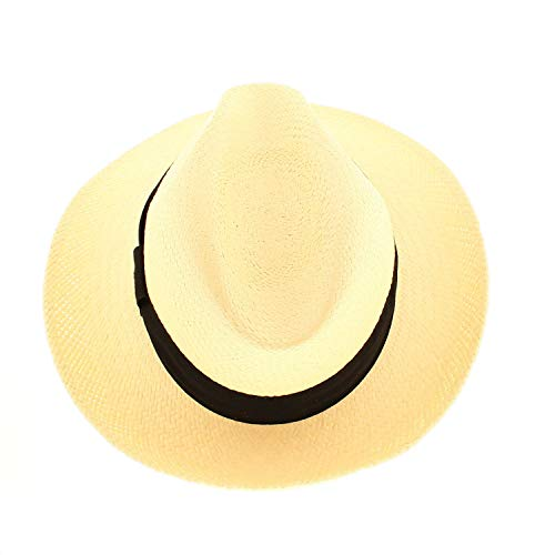 VotrechapeauPanama,cappello Fedora, con bordo rialzato bianco 57 cm