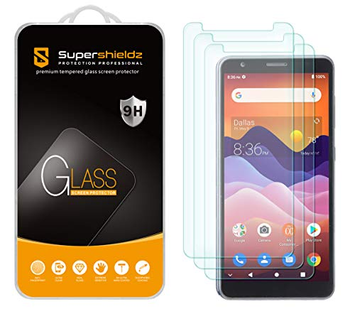 (3 Pack) Supershieldz Designed for ZTE Avid 579 Tempered Glass Screen Protector, Anti Scratch, Bubble Free