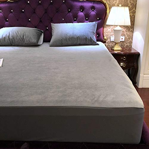 haiba Premium Quality Plain Fitted Sheet, Soft & Cosy Fleece Bed Linen, Bedding, Kingsize Bedsheet 180x200cm