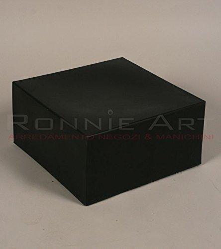 Kubus aus Kunststoff schwarz Hocker Base Beistelltisch Sitz Stuhl Hocker 40x 40x 20cm