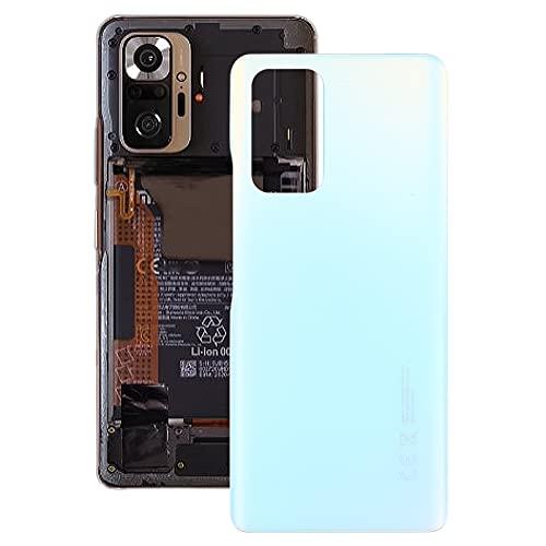 jingtingmy Fixa telefondelar renovera Tapa Trasera de la batería para Xiaomi Redmi Note 10 Pro MAX/Redmi Note 10 Pro M2101K6G M2101K6I (Color : White)