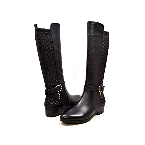 SoleMani Women's X-Slim Collection Naz Leather Black Boots 6
