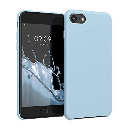 kwmobile Hülle kompatibel mit Apple iPhone 7/8 / SE (2020) - Hülle Silikon gummiert - Handyhülle - Handy Hülle in Pastellblau