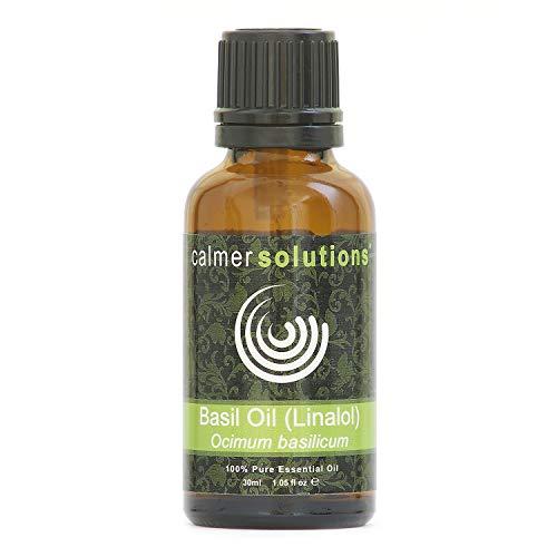 Calmer Solutions Albahaca (Dulce) 100% Aceite Esencial Puro Aromaterapia 30ml