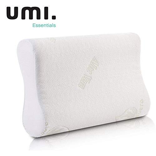 UMI. by Amazon - Memory Foam Kissen Viscoelastischem Gelschaum Kopfkissen Orthopädisches Nackenstützkissen für HWS Schlafkissen 60x35x13/11cm, Weiß