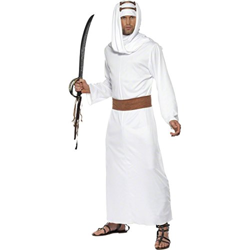 NET TOYS Costume Blanc Lawrence d'Arabie Taille M 48/50 - Costume de cheikh - Costume Oriental - Costume de Prince - Costume Arabe