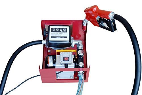 GARTLER selbstansaugende Dieselpumpe 230V Komplett Set mit Zapfpistole Schlauch Zählwerk
